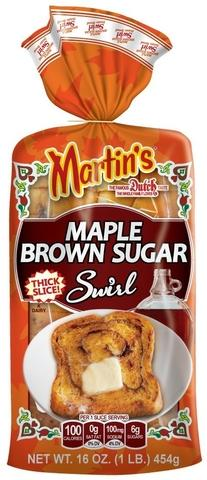 Martin's Maple Brown Sugar Swirl Potato Bread Now on Shelfs