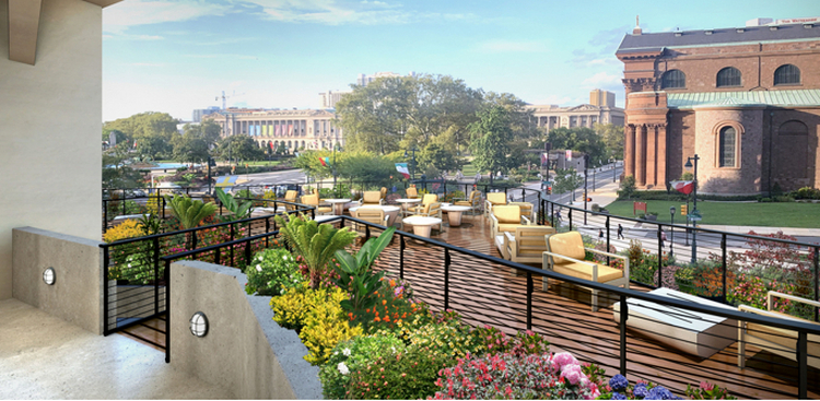 The Terrace on 18th on Benjamin Franklin Parkway